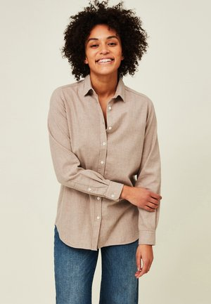 ISA LT - Button-down blouse - light brown melange