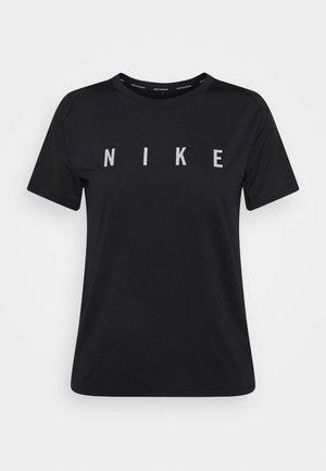 MILER  - Camiseta estampada - black/reflective silver