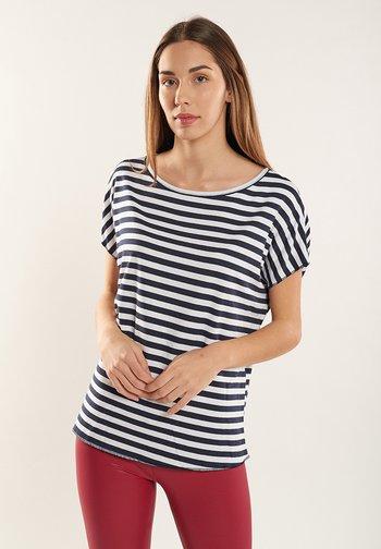 MORGANA - Print T-shirt - navy blue, off white