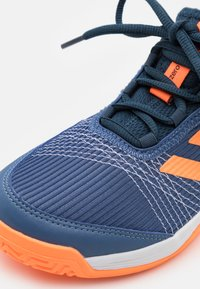 adidas Performance - ADIZERO CLUB UNISEX - Multicourt tennis shoes - crew blue/screaming orange/crew navy - 5