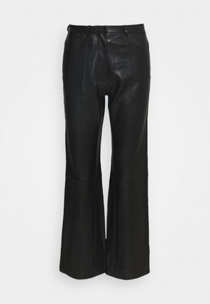 Leather trousers - noir