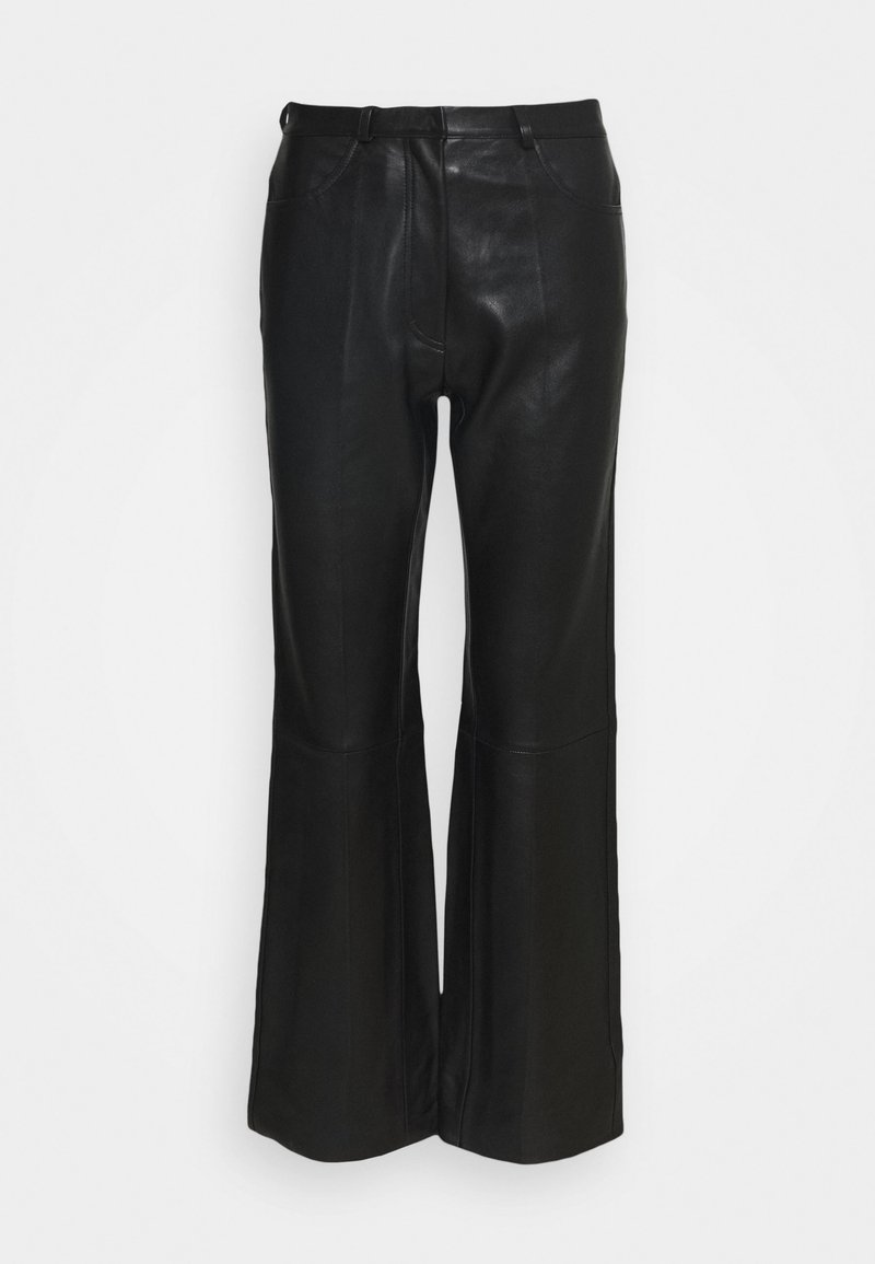 sandro - Leather trousers - noir