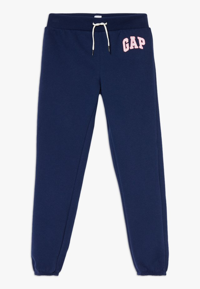 GIRL LOGO - Tracksuit bottoms - elysian blue
