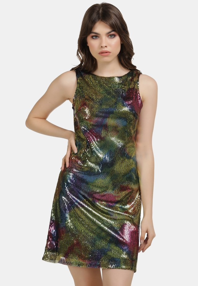 Cocktail dress / Party dress - rainbow