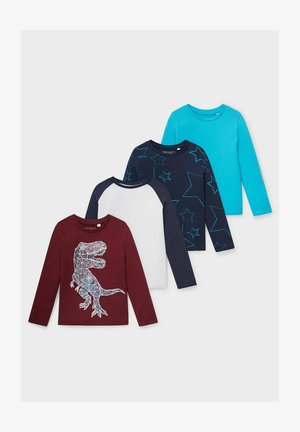4 PACK - Long sleeved top - red / blue