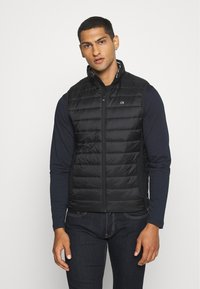Calvin Klein - LIGHT WEIGHT SIDE LOGO VEST - Waistcoat - black - 0