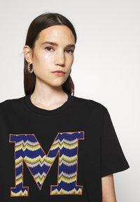 M Missoni - SHORT SLEEVE - Print T-shirt - black beauty - 5
