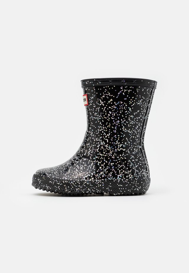 KIDS FIRST CLASSIC GIANT GLITTER - Bottes en caoutchouc - black