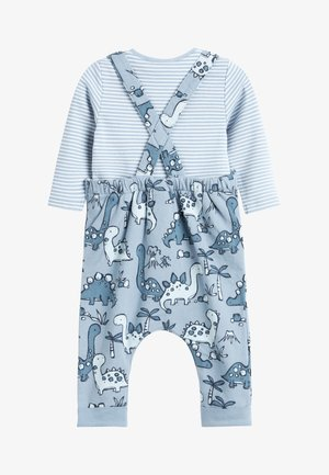 BLUE DINOSAUR JERSEY DUNGAREES AND BODYSUIT SET - Body - blue