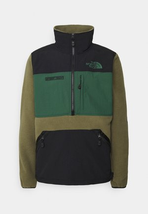 STEEP TECH HALF UNISEX - Sweat polaire - burnt olive green/evergreen/black