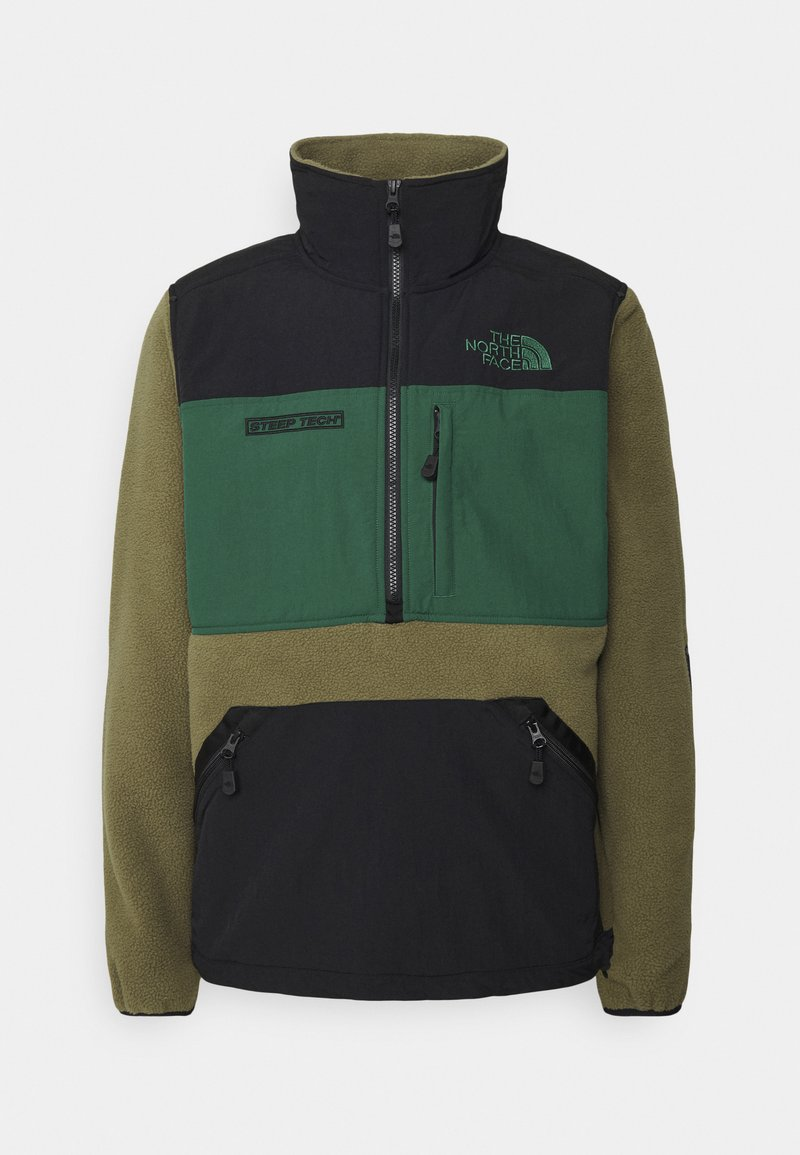 The North Face - STEEP TECH HALF UNISEX - Sweat polaire - burnt olive green/evergreen/black