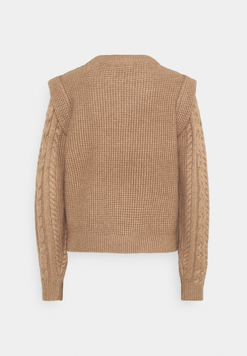 Noisy May NMEMBER ONECK - Strickpullover - toasted coconut/braun 3tEhZY