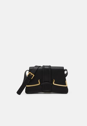 SHOULDER BAG MEDIUM BUCKLE - Taška s příčným popruhem - black