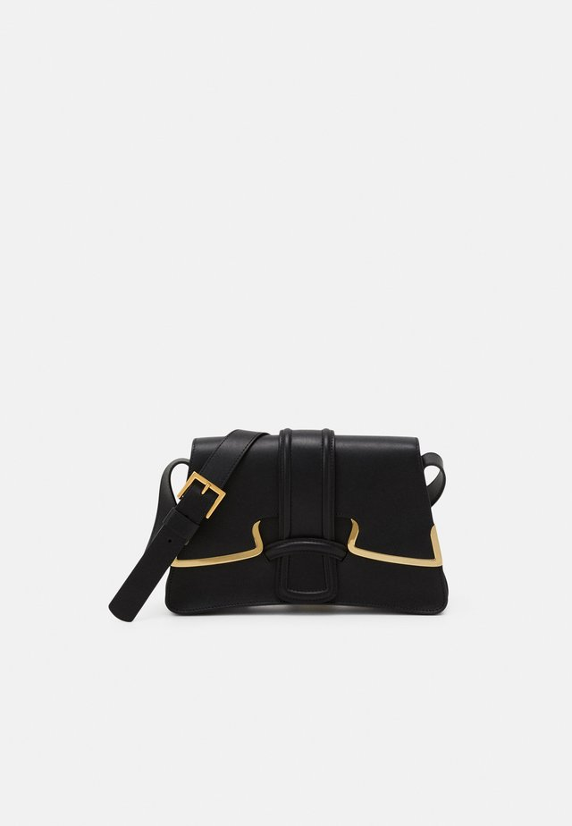 SHOULDER BAG MEDIUM BUCKLE - Across body bag - black