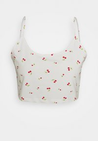 Glamorous Petite - CROPCAMI WITH V-NECK - Toppe - white - 0