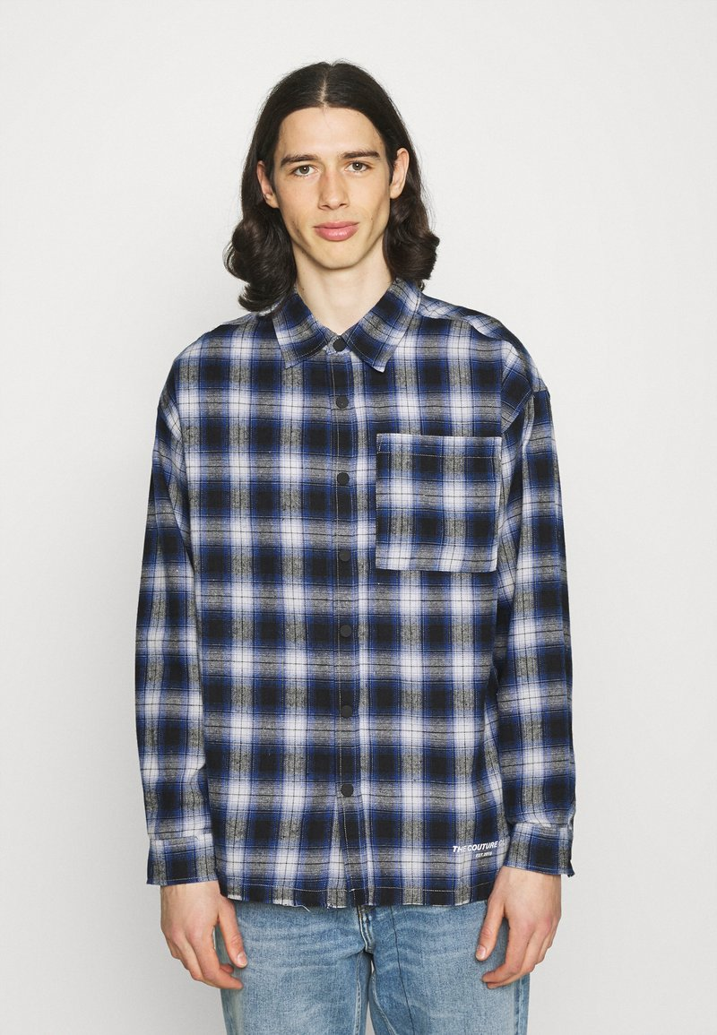 The Couture Club - SIGNATURE CIRCLE COUTURE BRUSHED CHECK - Koszula - blue