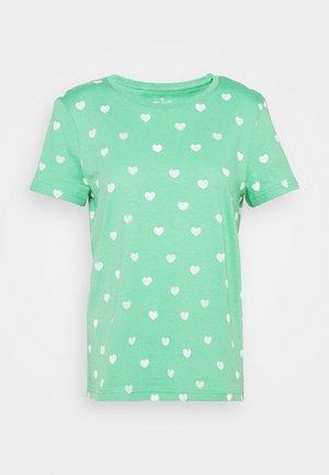 Print T-shirt - green/offwhite
