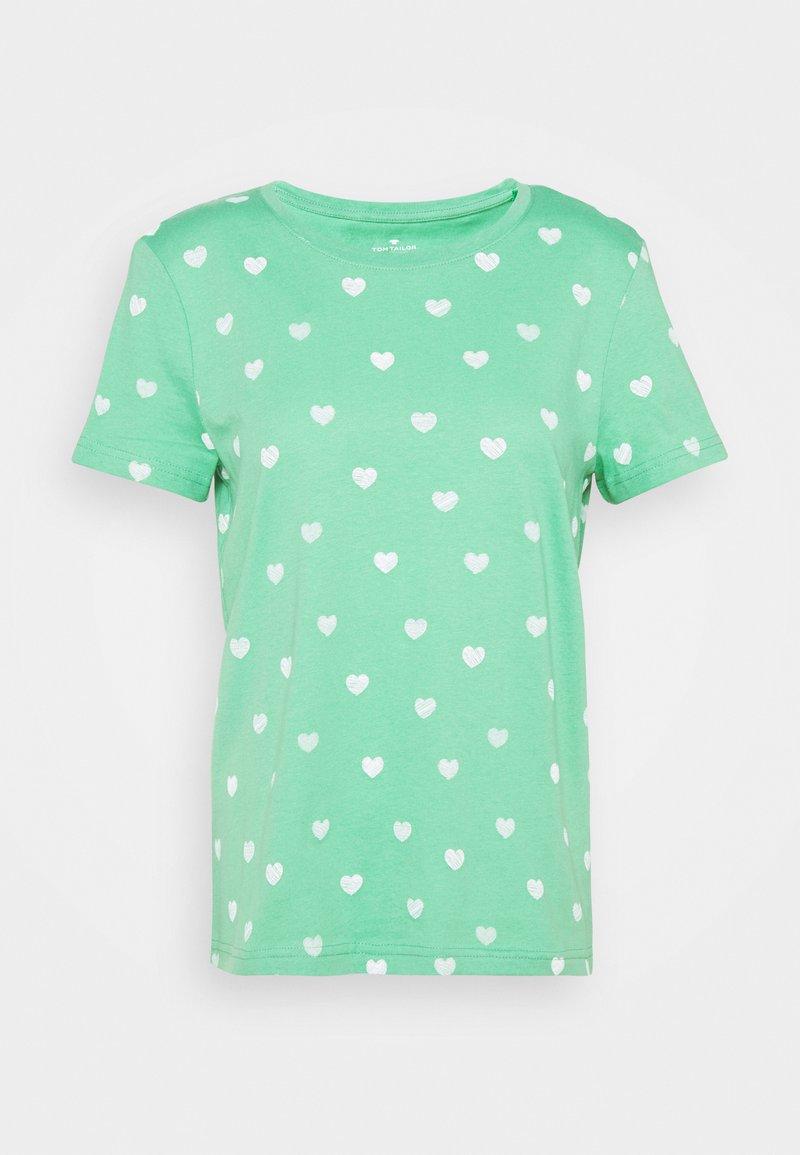TOM TAILOR - T-shirt imprimé - green/offwhite