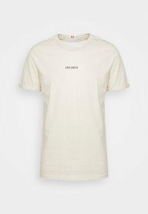 LENS - T-shirt med print - ivory/black