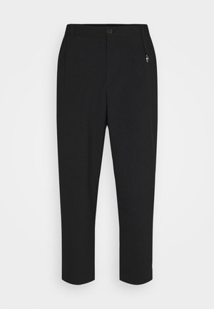 LANGLEY TROUSERS - Tygbyxor - black