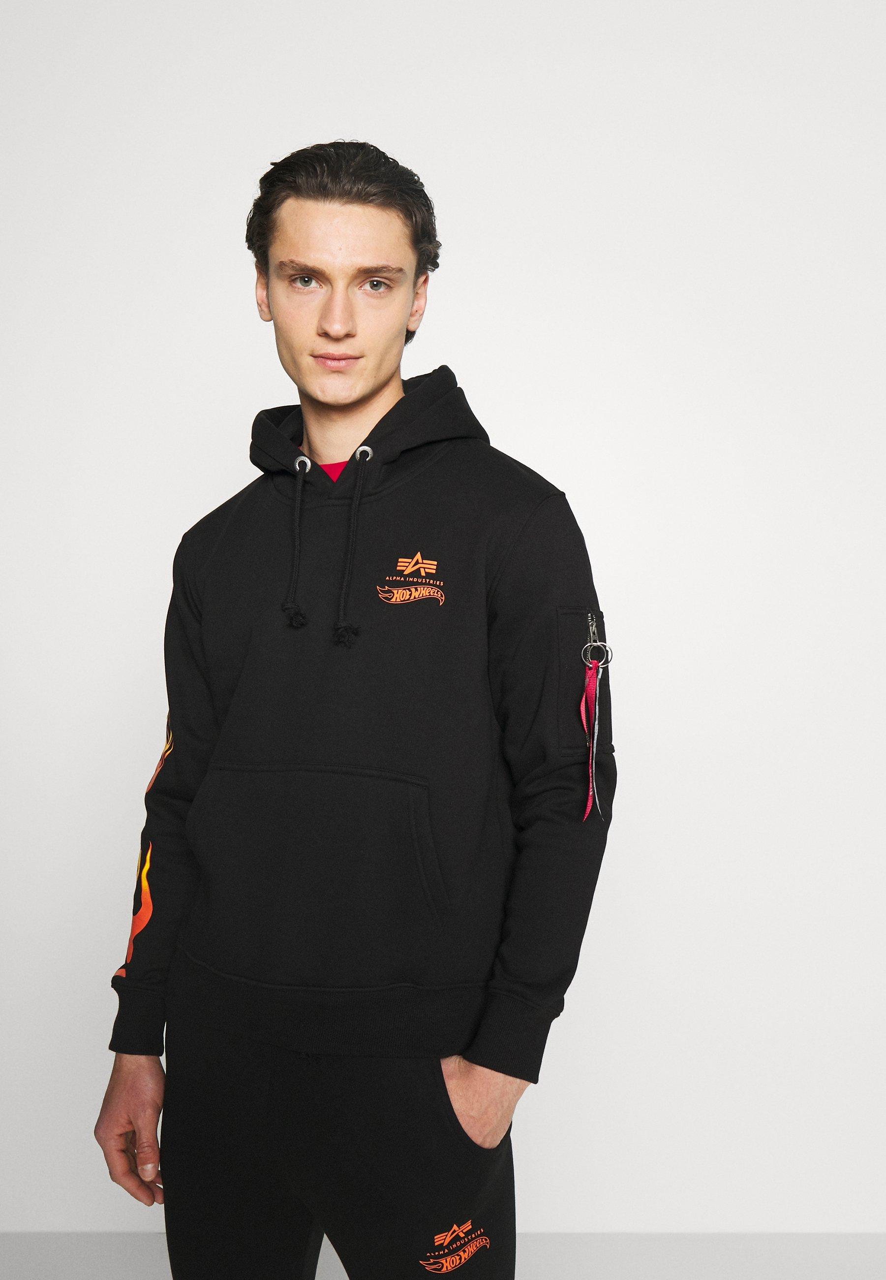 Men FLAME HOODY - Sweatshirt