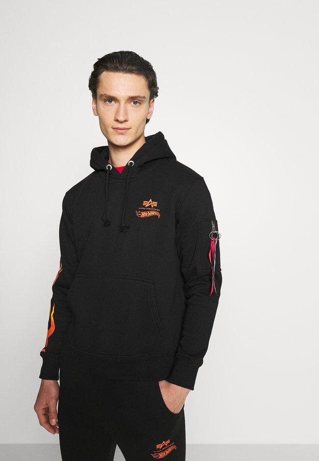 FLAME HOODY - Sweatshirt - black