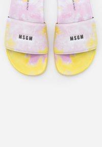 MSGM - CIABATTA DONNA WOMANS SLIDE - Mules - pink/yellow - 6