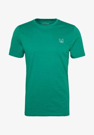 JJEDENIM LOGO TEE O-NECK - T-shirt basic - verdant green/white