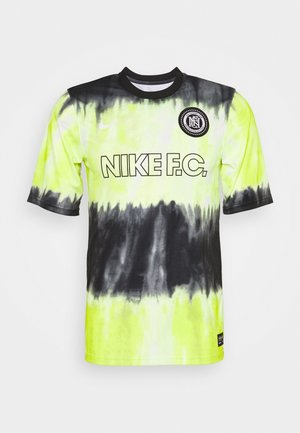 FC - Print T-shirt - black/volt/white