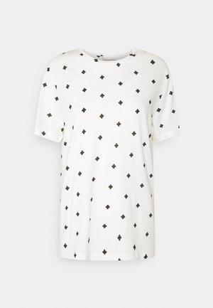 ANGELL - Print T-shirt - soft white