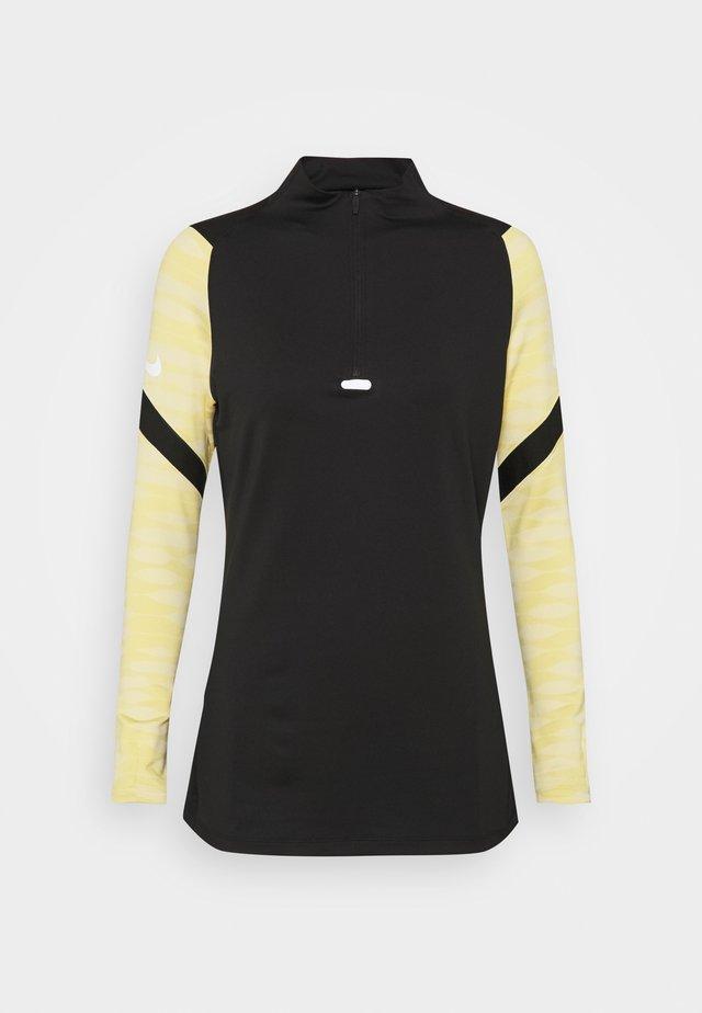 DRY STRIK - Sports shirt - black/saturn gold/black/white
