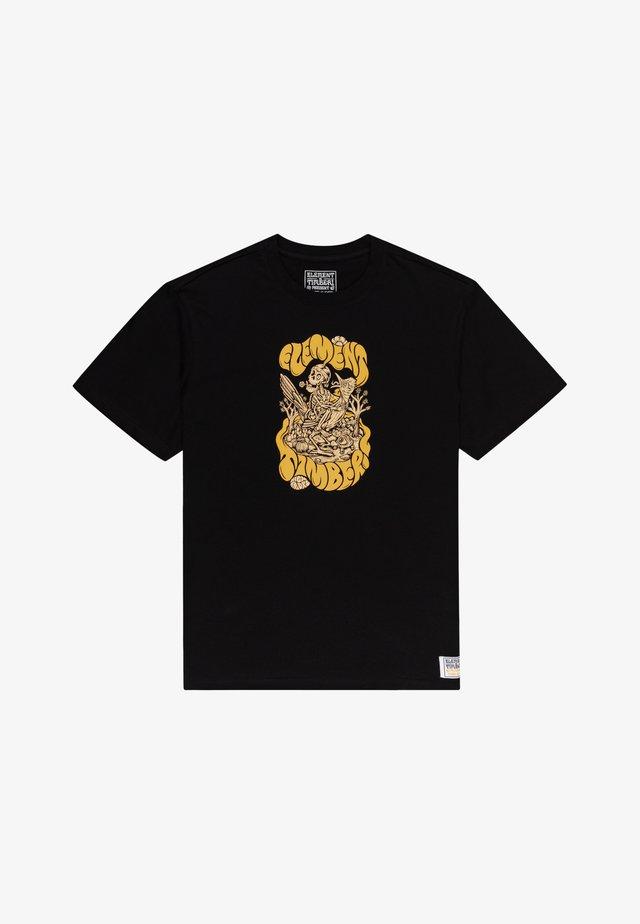 TIMBER THE TRIP - T-shirt imprimé - flint black