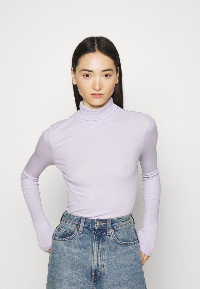 PCBIRDIE HIGH NECK T NECK - T-shirt à manches longues - purple heather