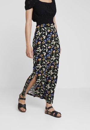 DITSY SKIRT - Maxi skirt - black