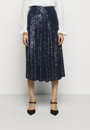 A-line skirt - deep blue