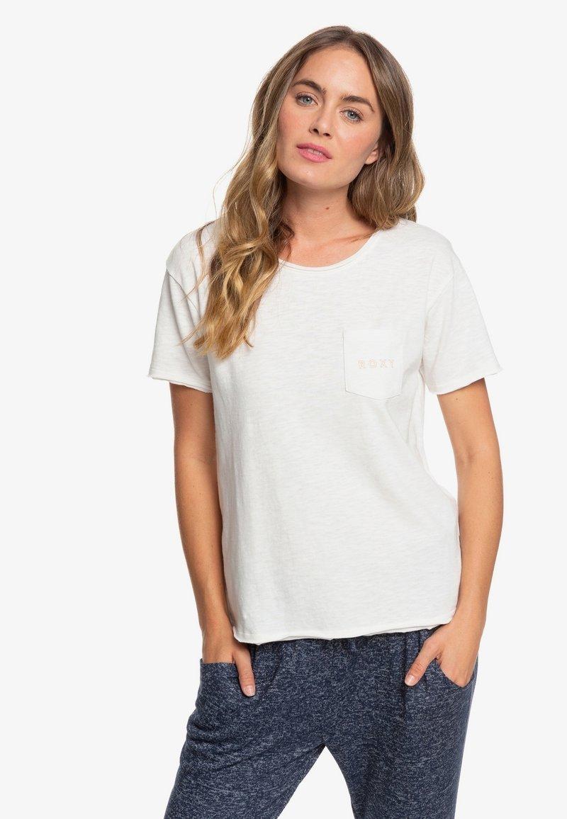 Roxy - STAR SOLAR - Print T-shirt - snow white