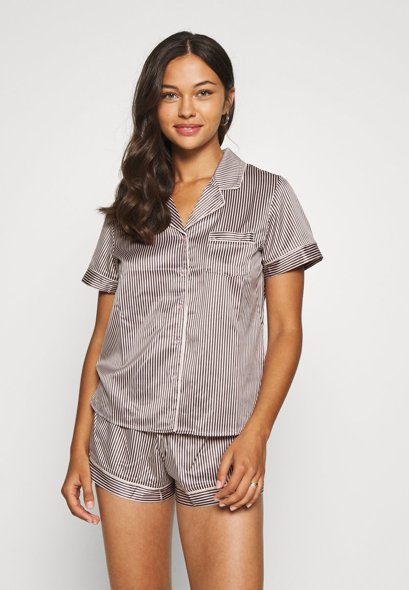 LingaDore - TOP WITH SHORTS SET - Pyjamas - white/grey