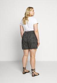 Dorothy Perkins Curve - TIE WAIST SPOT PRINT - Shorts - black - 2