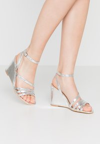 Simply Be - WIDE FIT AVA - High heeled sandals - silver - 0