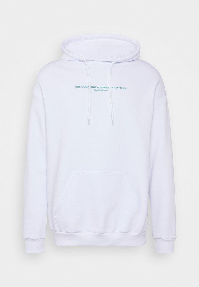 UNISEX - Felpa con cappuccio - white