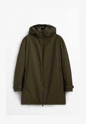 MIT KAPUZE  - Down coat - khaki