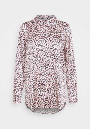 Button-down blouse - creme/rosa/bleu