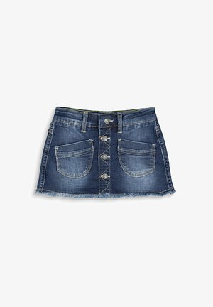 Denim skirt - blue dark washed