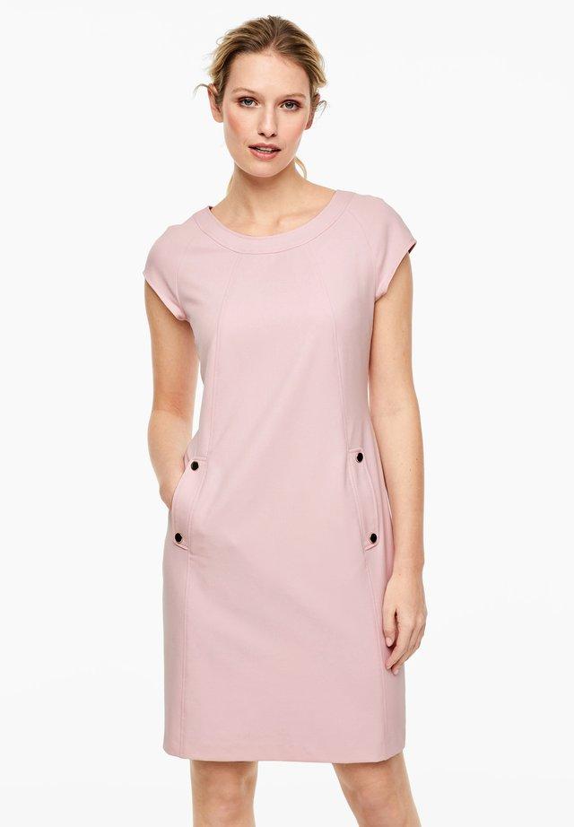 KLEID MIT WEBSTRUKTUR - Day dress - powder pink