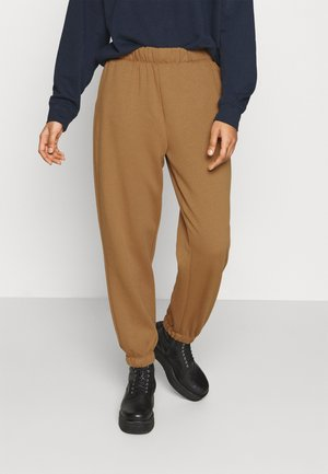 ONLFEEL LIFE PANT - Tracksuit bottoms - toasted coconut