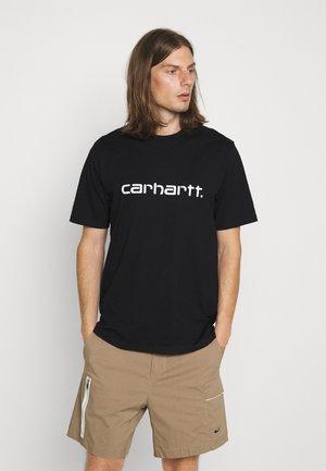 SCRIPT - T-shirt imprimé - black/white