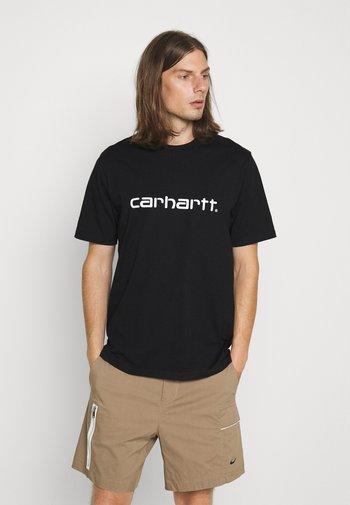 SCRIPT - T-shirt med print - black/white