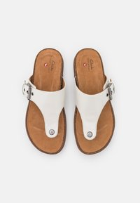 Clarks Unstructured - ELAYNE STEP - Tongs - white - 5