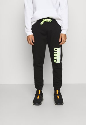 JOGGER BLACK NEON - Tracksuit bottoms - black