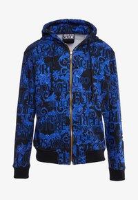 Versace Jeans Couture - BAROQUE ZIP HOODIE - Huvtröja med dragkedja - dark blue - 5